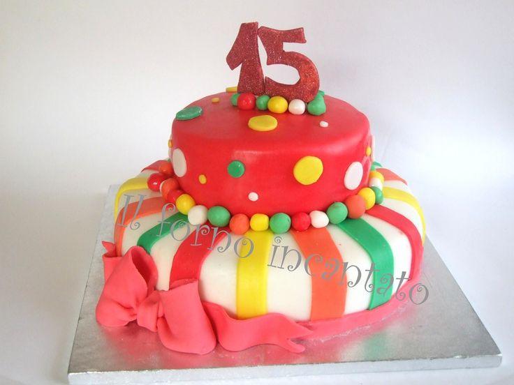 Fabuleux Oltre 25 fantastiche idee su Torta per compleanno 15 anni su  KH52