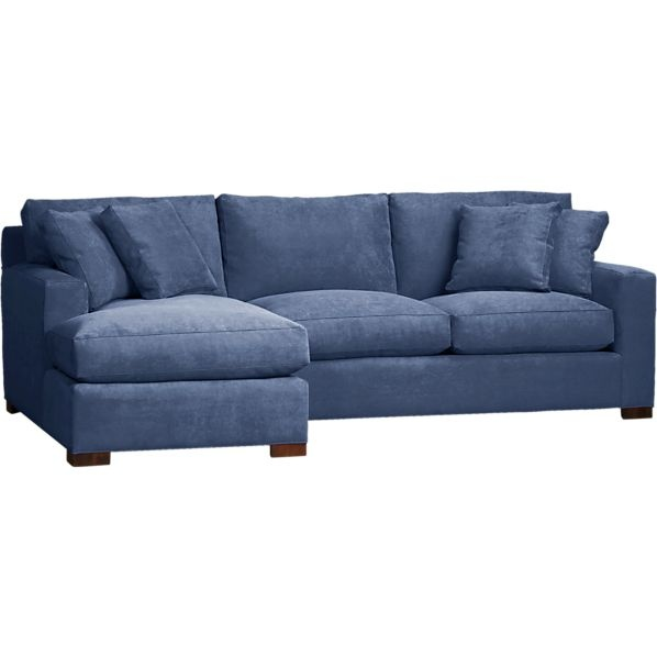 Leather Sofas Axis Piece Left Arm Chaise Sectional in Sectional Sofas Crate and Barrel