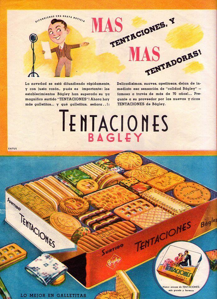 Galletitas TENTACIONES, de Bagley, década del 40.