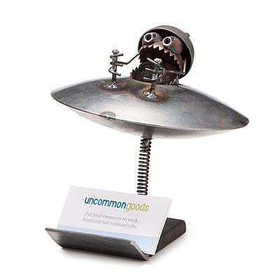 23 best cool business card holders images on pinterest business ufo business card holder office desk accessoriesfunny reheart Choice Image