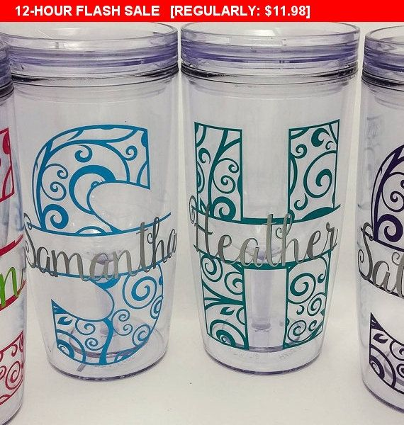 Personalized Wine Tumbler, Wine Mate, No spill wine mug, Double Walled Wine Sipper with lid, Wine2go with vinyl decal, monogram, mardi gras