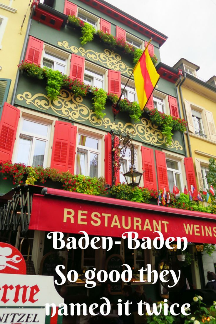 """Baden-Baden sits about 40 km north-east of Strasbourg, making it an easy day trip if you were based in the French city and had a yearning to have a dip in the thermal waters. The name is derived from the word """"bad"""" meaning bath, and had to adopt the double name as a means of setting it apart from other """"Badens"""" found in Europe. It's thermal baths that are open to the public are fed from the hot springs that flow underneath the town."""
