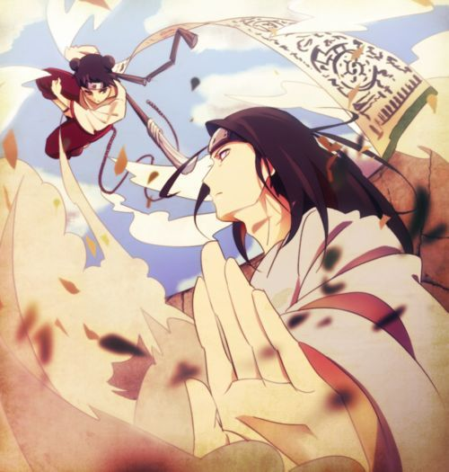 Tenten & Neji Hyuga - such a cool picture of them!!