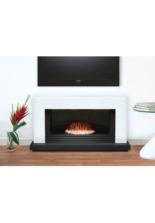 Adam Carrera Fireplace Suite in Pure White 48 Inch | Electric Fireplace Suites | Fireplace Suites | Fireplace World