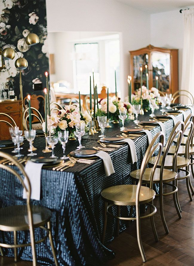 An Elegant Floral Dinner Party For A 40th Birthday Dinner Party