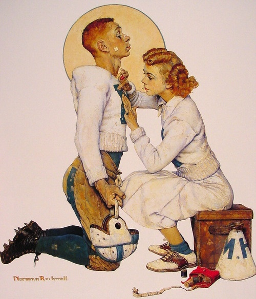 I don't pin much about my future teen kids because I have no idea what in the world to expect. Nevertheless, I hope my boy or girl gets into a situation like this. By Norman Rockwell