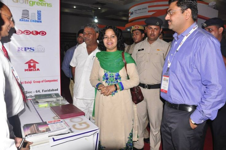 Hon,ble Miss Sharda Rathore MLA cum Secretory of Govt. of Haryana at the Stall of Shri Balaji Group in Property Expo of Hindustan Times at Magpie Faridabad.