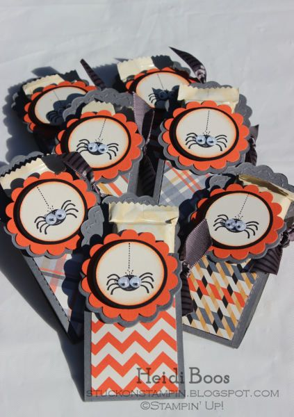 September Big Shot Club project (inspired by Becky Roberts) Stamp Set: Googly Ghouls Colors: Basic Gray, Tangerine Tango, Basic Black, Very Vanilla DSP: Howlstooth & Scaringbone Many more pictures on my blog ~ stuckonstampin.blogspot.com (October 2012)