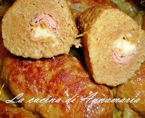 Piccoli polpettoni ripieni su crema di cipolle, ricetta secondo
