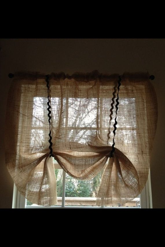 Burlap Curtain by Sellingfaith on Etsy, $15.00 | Making A ...