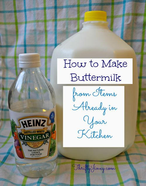 How to Make a Buttermilk Alternative from Items Already in Your Kitchen - Thrifty Jinxy