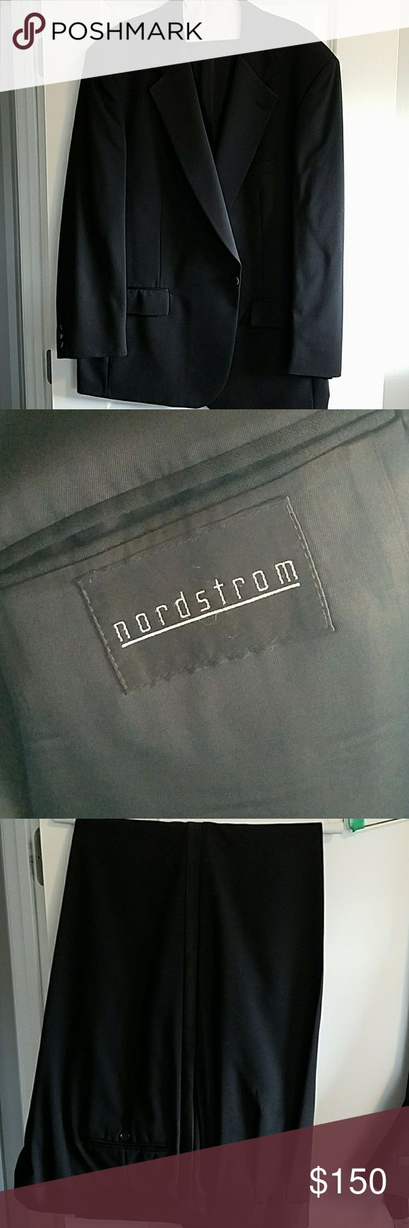 Tuxedo Worn once, classy Tuxedo from Nordsrroms. Pants are a 46x 32 Nordstrom Suits & Blazers Tuxedos