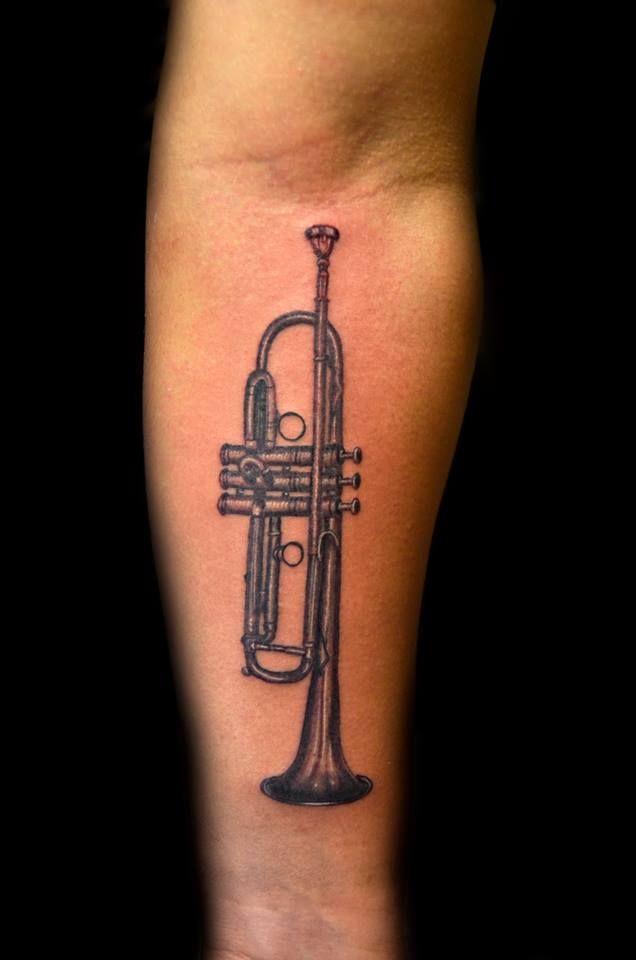 Trumpet Tattoo Trumpet Tattoo Small Tattoos Tiny Tattoos