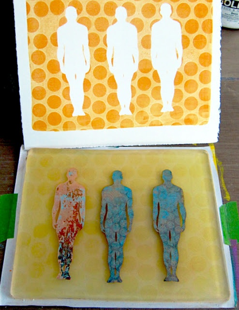 Printing with Gelli: Who Was That Masked Man?