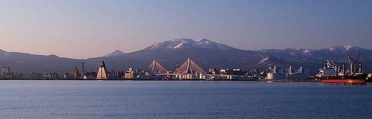 Aomori City from Aomori Bay, Japan