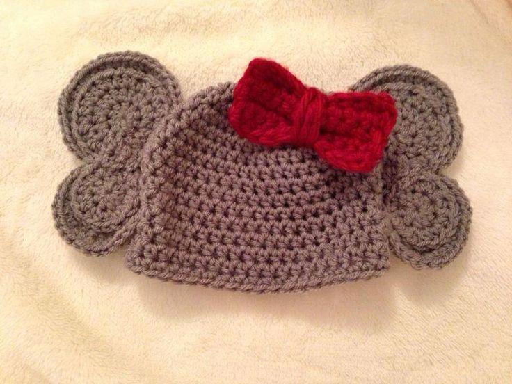 Crochet Pattern For Baby Elephant Hat : Elephant baby crochet hat Crocheting! Pinterest