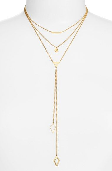 BaubleBar 'Facets' Layered Necklace available at #Nordstrom