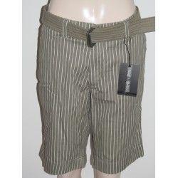Piazza Italia dámské šortky s páskem světle šedé s proužkou L
