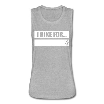 Writeable Declare what you BIKE FOR Women's Flowy Muscle Tank