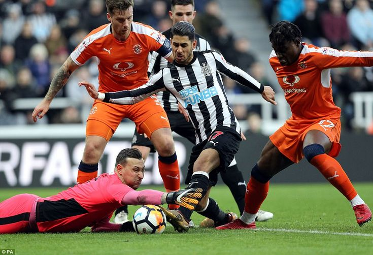 The Luton goalkeeper should have held Dwight Gayle's set piece, and was made to pay when Perez reacted quickly