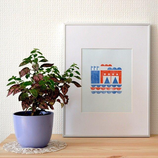 Instagram media wunimpresiones - Impresión en Prensa, calce a dos colores. Ediciones limitadas de 25.  De 33x43 cms enmarcada. Pedidos y consultas a hola@wun-handmade.com