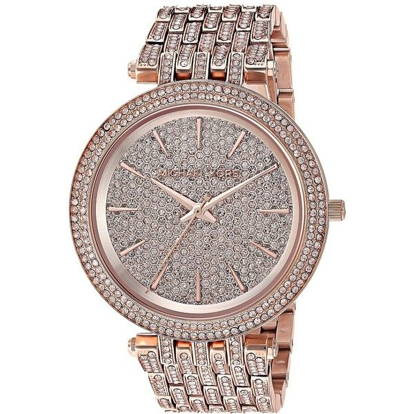 Michael Kors MK3780 - Darci (Rose Gold) Watches (1,745 ILS) ❤ liked on Polyvore featuring jewelry, watches, bezel jewelry, rose gold jewellery, michael kors, rose gold watches and rose gold wrist watch
