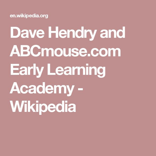 Dave Hendry and ABCmouse.com Early Learning Academy - Wikipedia