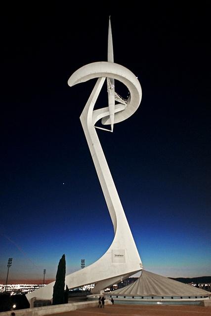 Montjuïc Communications Tower in Barcelona, Spain; Santiago Calatrava, architect.