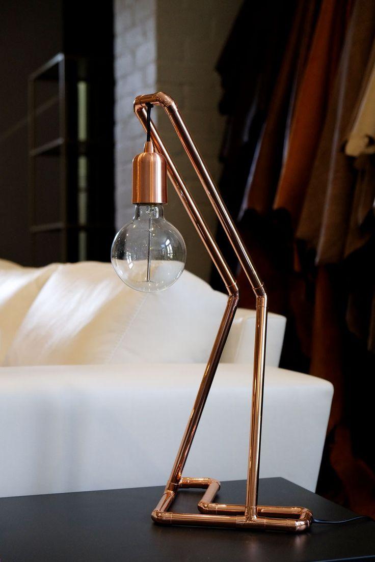 Klooftique copper table lamp