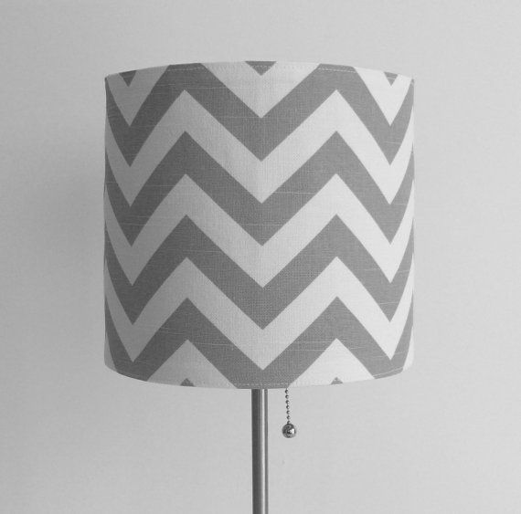 Gray Chevron Lampshade Cover by skoopehome on Etsy, $18.00