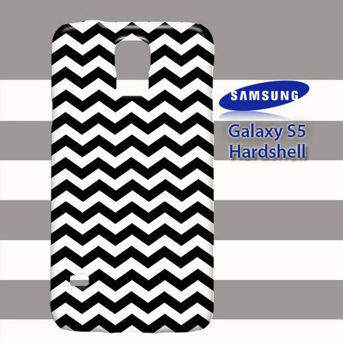 Black and White Chevron Printed Samsung Galaxy S5
