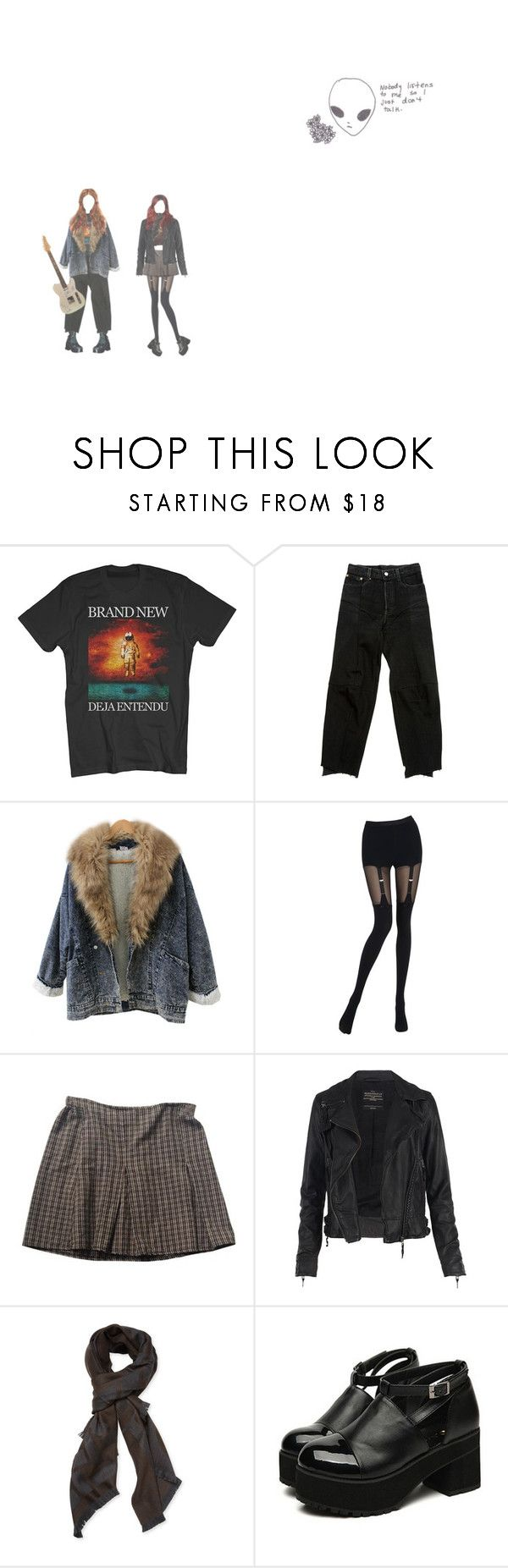 """""""speak no evil"""" by unconventional-outfits ❤ liked on Polyvore featuring Chantal Thomass, Brandy Melville, AllSaints and Christian Dior"""