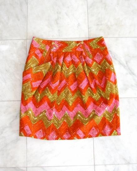 Beth Bowley: Gold Skirt, Beth Bowley, Patterns Skirts, Summer Skirts, Bright Skirts, Chevron Skirt, Pink And Gold, Cute Skirts, Bright Colors