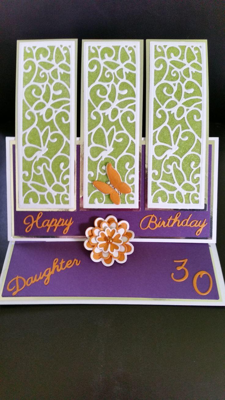 Sue Wilson Dies & Micro Beads Birthday Card
