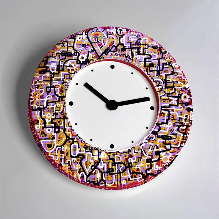 Reloj Graffiti pintado a mano