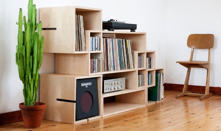 MoModul Modular Plywood Shelving by Xavier Coenen - Homeli