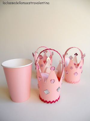 Papercup crowns- cute for baby girl showers