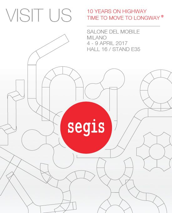 Visit us at #SaloneDelMobile in #Milan.  #MilanoDesignWeek #Segis #SegisDesign #Savethedate