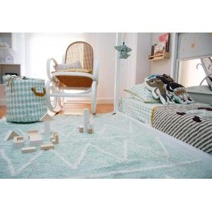Tappeto lavabile Hippy Mint di Lorena Canals #tappetibambini #kidsroomdesign #lorenacanals #cameretta