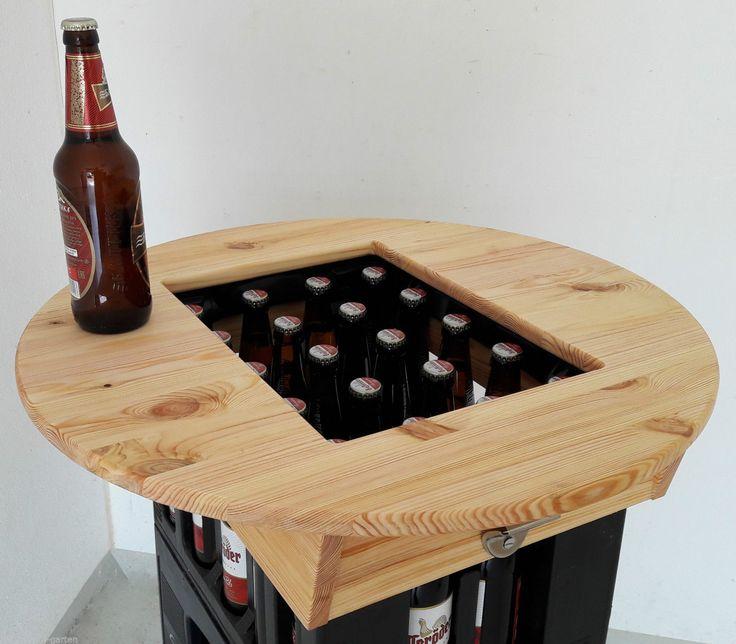 Details Zu HIT Bierkasten Tischaufsatz Partytisch Stehtisch Bistrotisch Mit  Flaschenöffner