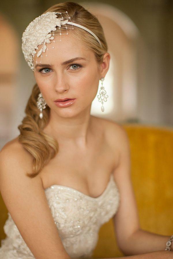 Mariell Lace And Silk Bridal Cocktail Hat With Netting 3912H Wedding AffordableWedding HeadpiecesWedding VeilsBridal