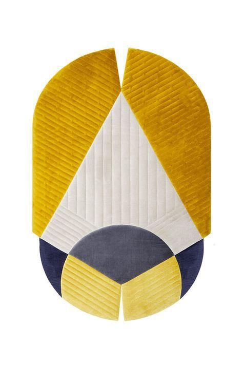 Notre selection de tapis colores Tapis Maschera, Studio Böttger (Nodus)