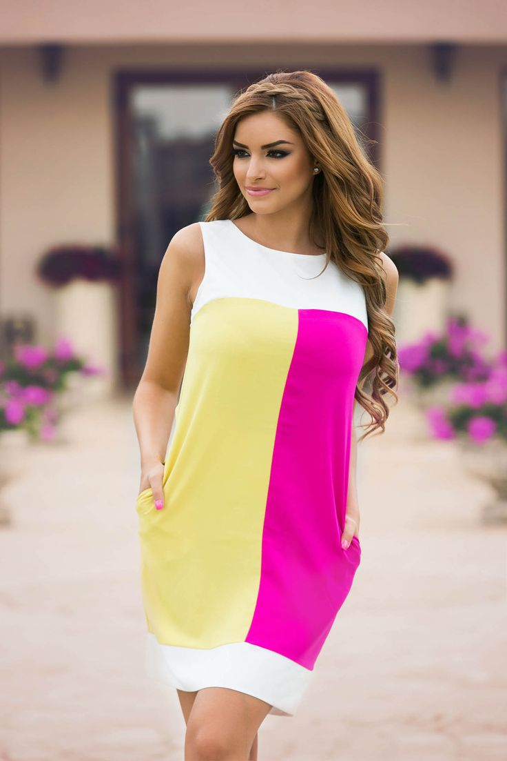 Fofy Special Behave Pink Dress, with pockets, transparent chiffon fabric, sleeveless, nonelastic fabric