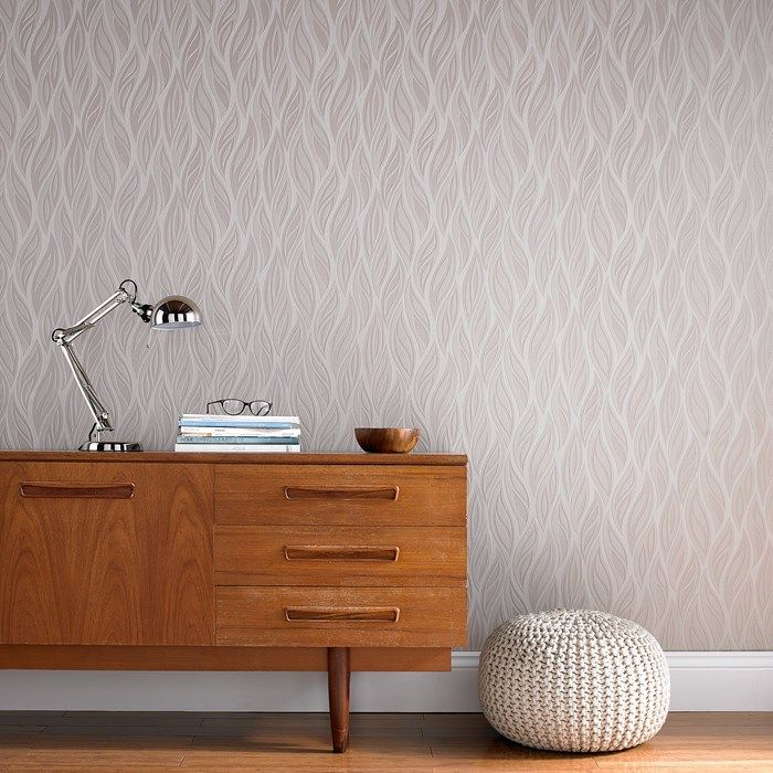 Sway Beige  Mocha Wallpaper - Brown Floral Wall Coverings by Graham  Brown