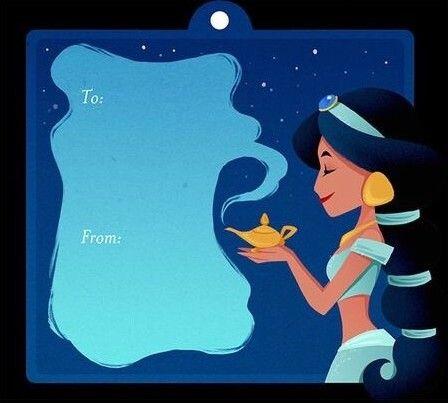 Jasmine (Gift Tags by BForBel) #Aladdin