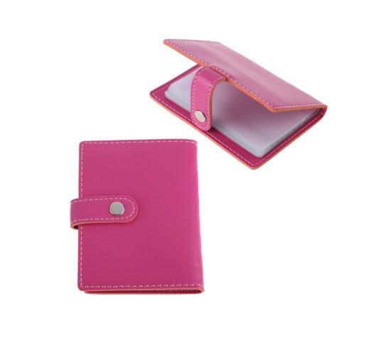 Pink Colour PVC Women Cardholder with Magnet Closing
