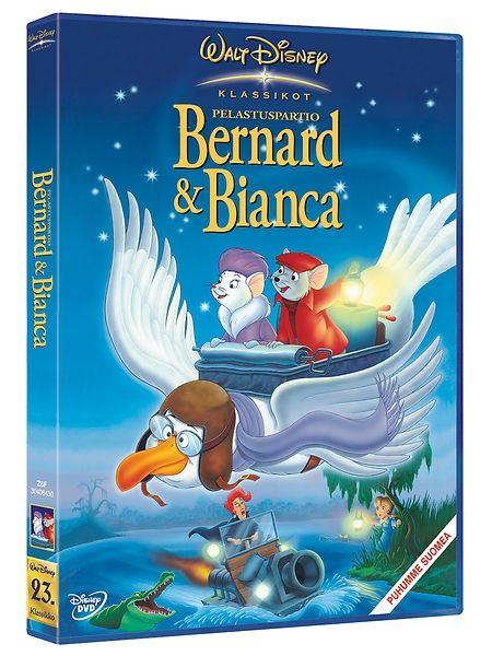 Pelastuspartio Bernard & Bianca -dvd. Pieni orpotyttö Penny on vaarassa! Madame Meduusa pitää häntä vankinaan pakottaakseen tytön etsimään mustasta onkalosta maailman suurimman timantin. Kansainvälinen pelastuspartio valjastaa tehtävään kaksi hiirtä, Bernardin ja Biancan. Animaatio, 1977.