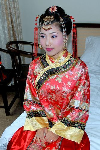 chinese traditionele bruid