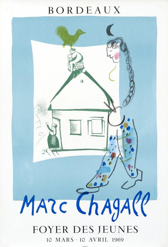 Marc chagall foyer des jeunes bordeaux by chagall marc for Foyer jeune travailleur bordeaux