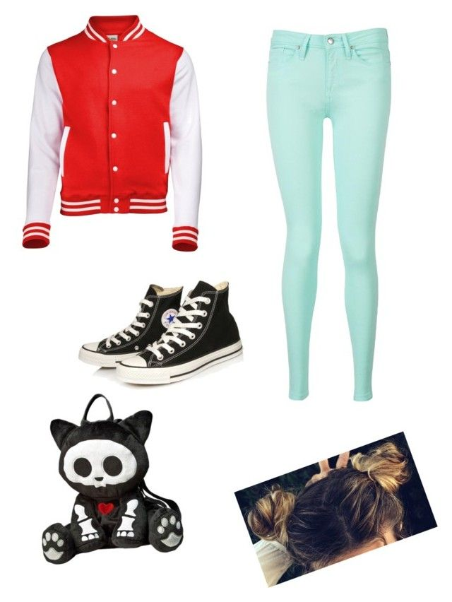 """""""punk outfit"""" by goldenangel5277 ❤ liked on Polyvore featuring Tommy Hilfiger, Converse, women's clothing, women's fashion, women, female, woman, misses and juniors"""